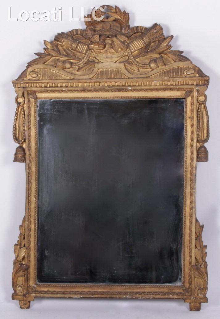 An 18th Century Continental Gilt Gesso Mirror