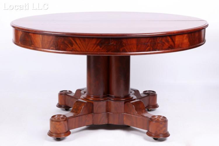 An American Mahogany Dining Table, Circa 1860