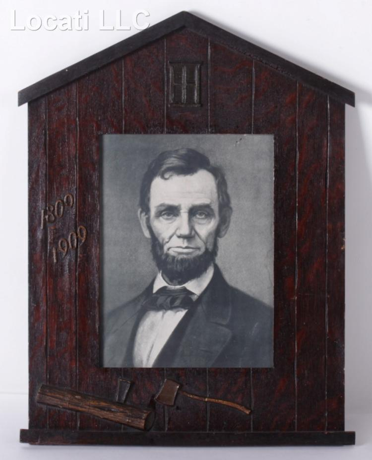 A Framed Portrait of Abraham Lincoln, Lithograph