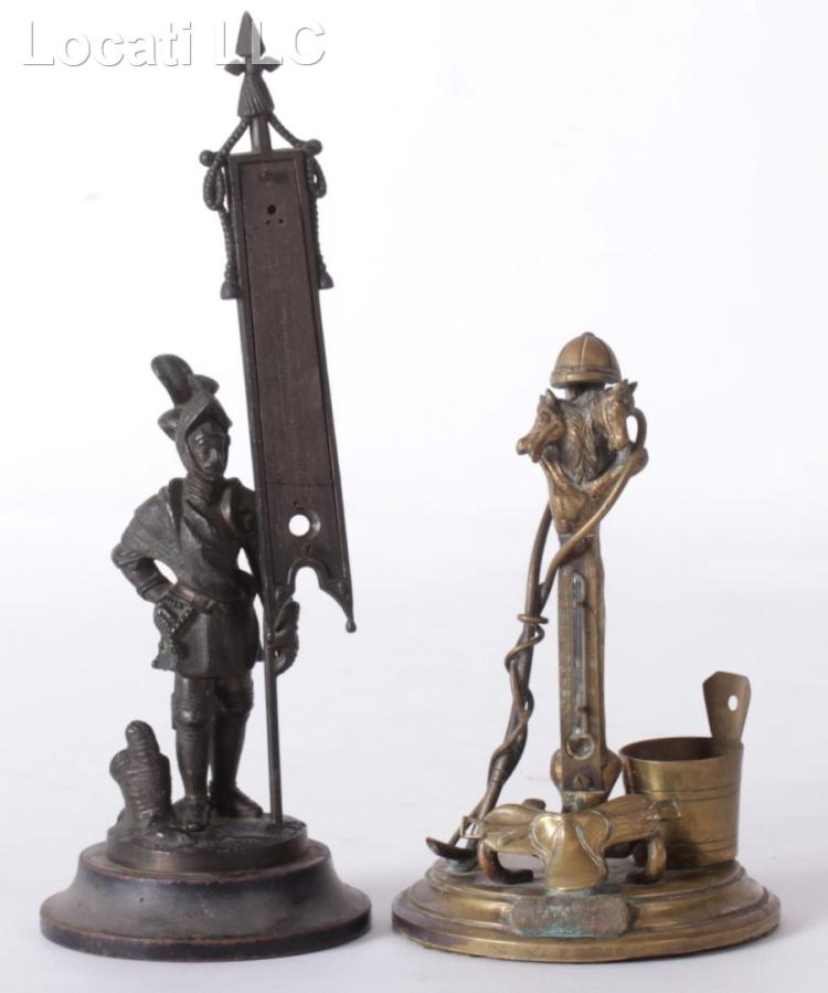 Two Unusual Thermometers, One Bronze