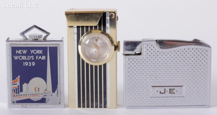 A 1939 World's Fair travel clock with Lighters