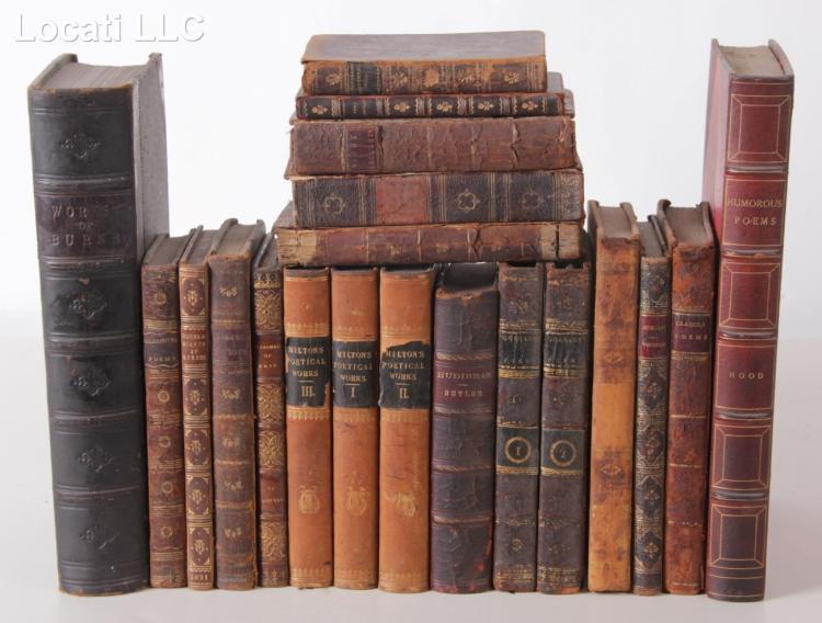 Books, 18th and 19th Century Poetry, Twenty Volumes