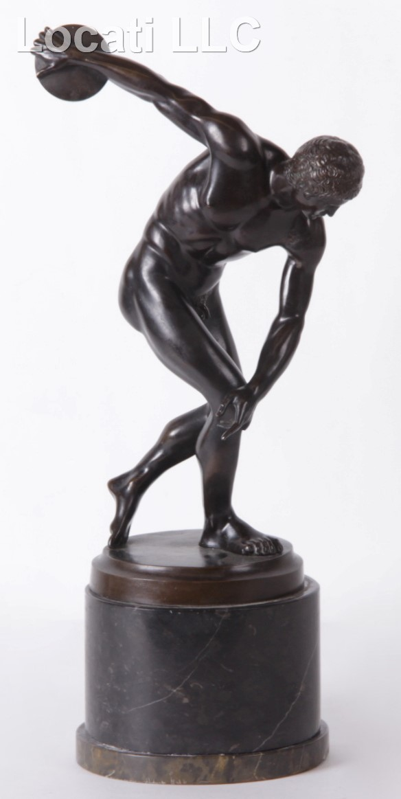 A Bronze Discus Thrower, After the Antique