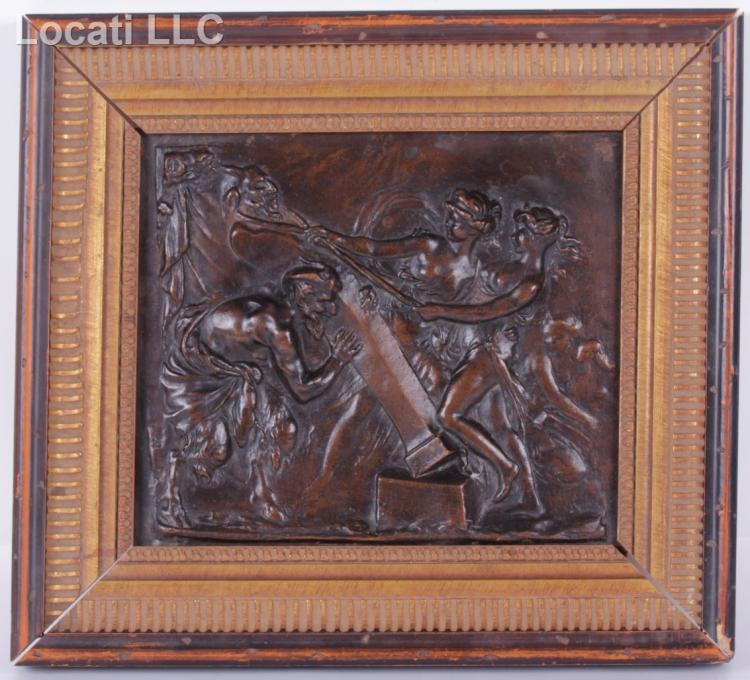 A Cast Bronze Plaque