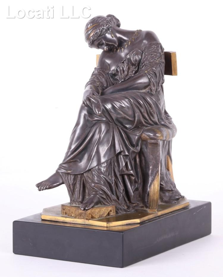 Pierre Jules Cavelier (French 1814 - 1896) Bronze Sculpture