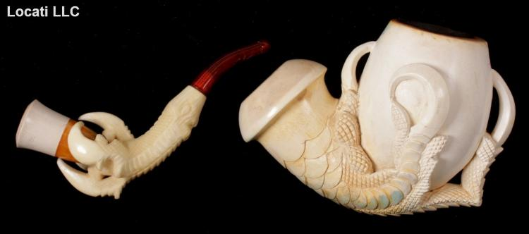 Two Meerschaum Pipes, Claws