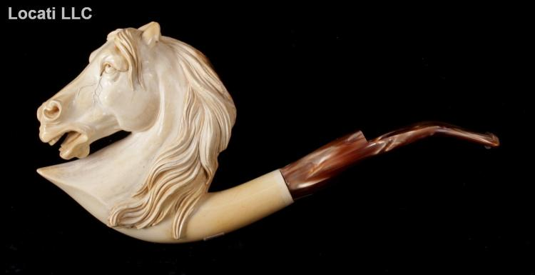 A Meerschaum Pipe, Horse Head