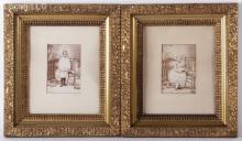 A Pair of Gilt Gesso Victorian Period Frames