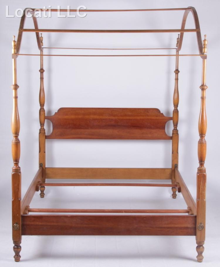 A Federal Style Cherry Canopy Bed