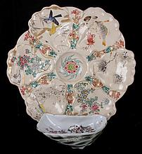 A Japanese Satsuma Oyster Plate, 19th Century