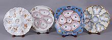 Four Mark & Gutherz Porcelain Oyster Plates