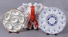 Three Pieces, Lobster Tray and Egg Plates