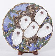 A Hayes Presidential White House Haviland Oyster Plate