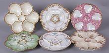 Six Good Limoges Porcelain Oyster Plates