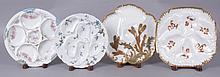 Four Haviland Limoges Porcelain Oyster Plates
