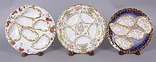 Three Good Haviland Limoges Porcelain Oyster Plates