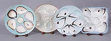 Four Napkin Oyster Porcelain Plates