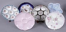 A Group of Six Austrian Porcelain Oyster Plates