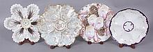 Four Porcelain Oyster Plates