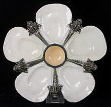 A Wedgwood Majolica Oyster Plate