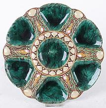 A Majolica Oyster Plate by Minton