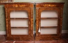 A Pair of Continental Marquetry Cabinets