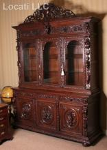 A Large Continental Two Part Cupboard