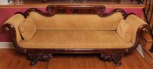 A Mahogany American Empire Style Sofa
