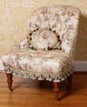 A Dapha Upholstered Slipper Chair
