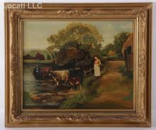 American Primitive, Late 19th Century, Oil on Canvas