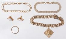 An Estate Lot of 14k Gold Jewelry