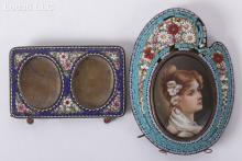 Two Micromosaic Picture Frames