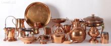 Estate Lot, A Large Group of Copperware