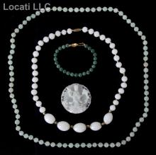 An Estate Lot of Jade Jewelry