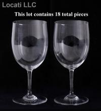A Set of Eighteen Baccarat Water Goblets,