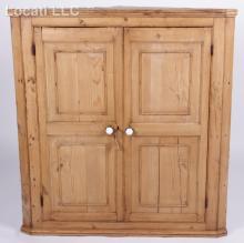 An English Pine Hanging Corner Cupboard