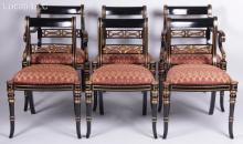 A Set of Regency Style Chairs by Maitland - Smith