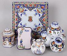 Five Pieces of Quimper Pottery