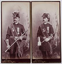 A Group of Late 19th Century Cabinet Cards, Including Military Portraits