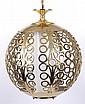 A Hollywood Regency Brass Light Fixture
