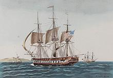 20th Century French Naval Print