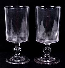 A Pair of American Flint Celery Vases