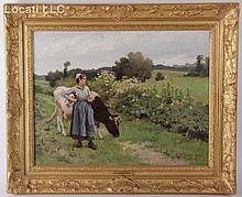 Edouard Debat-Ponsan (French, 1847 - 1913) Oil on Canvas