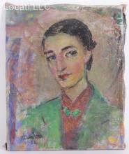 Lilian Whitteker (French/American, 1895 - 1978) Oil on Canvas