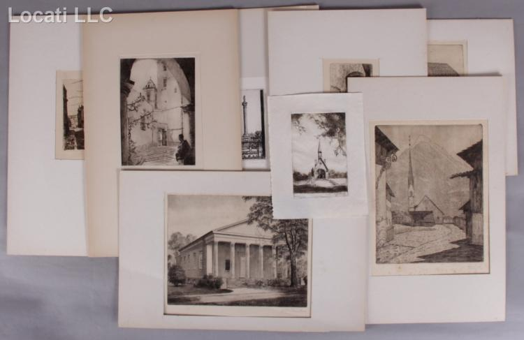 A Group of Etchings, Various Items Including Mikhail Portnoff