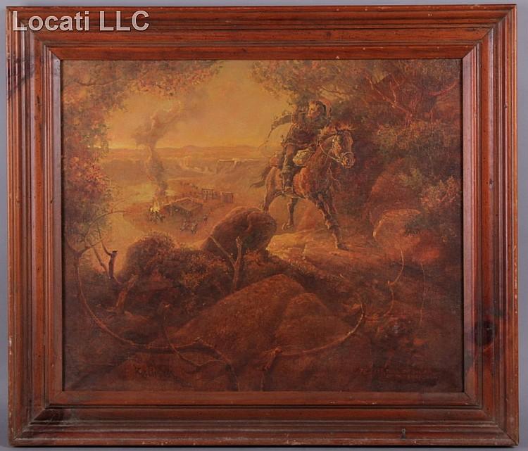 Leland Beaman (born 1933) Oil on Canvas
