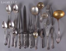 A Group of Sterling Flatware Including Serving Pieces