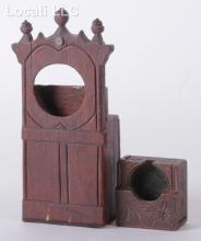 Two Carved Wooden Watch Hutches