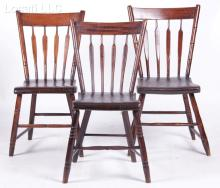 An Assembled Set of Three American Arrowback Windsor Chairs