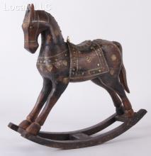 An Indian Wooden Rocking Horse